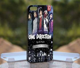 One Direction 1D Up All Night - Print On Hard Case - iPhone 4/4S Black Case Cover - Please leave a note for the color case: WHITE CASE or CLEAR CASE