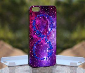 Purple Galaxy Infinity Quotes - Print On Hard Case - iPhone 5 Black Case Cover - Please leave a note for the color case: WHITE CASE or CLEAR CASE