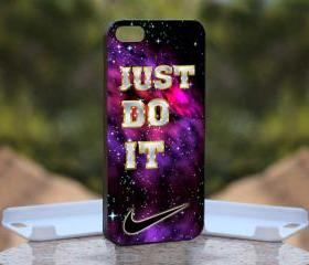 Purple Nabula Just Do It m - Print On Hard Case - iPhone 5 Black Case Cover - Please leave a note for the color case: WHITE CASE or CLEAR CASE