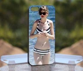 Sexy Taylor Swift - Print On Hard Case - iPhone 5 Black Case Cover - Please leave a note for the color case: WHITE CASE or CLEAR CASE