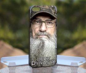 Si Robertson Duck Dynasty - Print On Hard Case - iPhone 4/4S Black Case Cover - Please leave a note for the color case: WHITE CASE or CLEAR CASE
